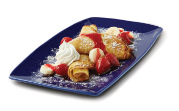 Strawberry Banana Danish Fruit Crepes
